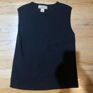 Black vintage knit sweater vest